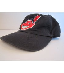 cleveland indians vintage late '90's mlb cotton ball cap by twins enterprise