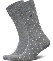 th men sock 2p dot underwear socks regular socks grå tommy hilfiger