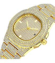 reloj hip hop lady - dorado
