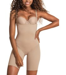 leonisa women's undetectable edge strapless mid-thigh body shaper 012951
