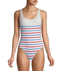 the anne-marie striped one-piece swimsuit