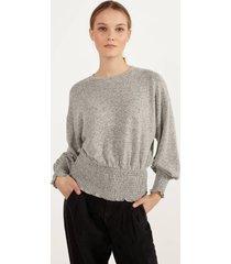sweater van elastisch garen