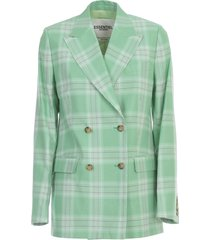 vaneyck double breasted checked blazer