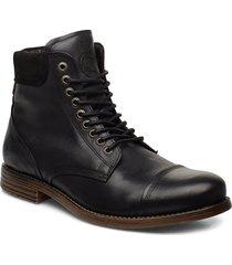 doverlake leather sh snörade stövlar svart sneaky steve