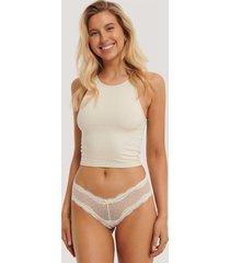 na-kd lingerie basic brazilian mesh panty 2-pack - white