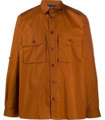 paul smith cargo pocket shirt - brown