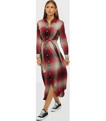 polo ralph lauren plaid long sleeve dress maxiklänningar