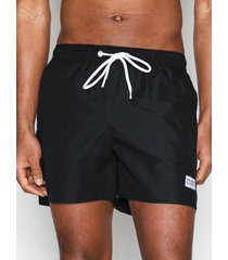 frank dandy breeze long swim shorts badkläder black