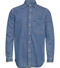 d-ber-p shirt skjorta casual blå diesel men