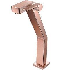 torneira para banheiro mesa  stillo cobre escovado bica alta - docol - docol