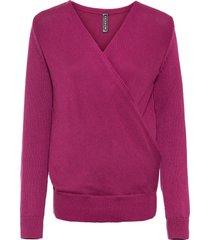 maglione a portafoglio con poliestere riciclato (viola) - rainbow