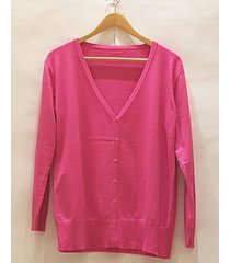 cardigan fucsia pink sisly