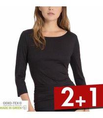 calida natural luxe threequarter length sleeve top