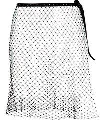 la reveche izar sheer mini skirt - black
