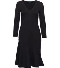 sancia lula jersey vnck dress knälång klänning svart french connection