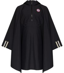 canada goose field hooded poncho - black