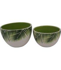 bowl de sobremesa folhas - incolor - dafiti