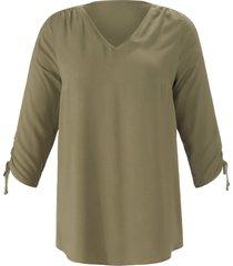 blouse 3/4-mouwen van emilia lay groen