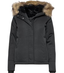 anf womens outerwear fodrad jacka svart abercrombie & fitch