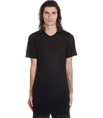 rick owens basic ss tee t-shirt in black viscose