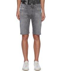 'razor' slim fit slim fit denim shorts