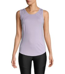 90 degrees by reflex women's back cutout tank top - misty lavender - size l
