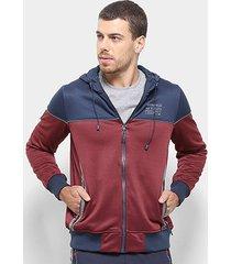 jaqueta gangster bicolor masculina