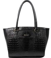 bolsa em couro recuo fashion bag tote preto