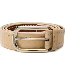 brioni stitched buckled belt - neutrals