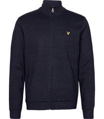 smart track top sweat-shirt trui blauw lyle & scott