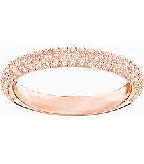 anello stone, rosa, placcato oro rosa