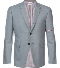 thom browne rwb selvedge armband sport coat - grey