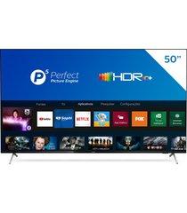 "smart tv philips 50"", 4k hdr 10+ led 50pug7625/78, wi-fi integrado"