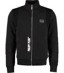 philipp plein cotton full-zip sweatshirt