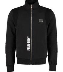 philipp plein cotton full-zip sweatshirt