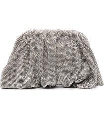 benedetta bruzziches crystal embellished clutch bag - silver