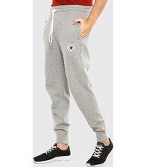 pantalón de buzo converse gris - calce regular
