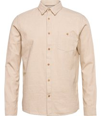6200602, shirt - sdjuan bd flanel skjorta casual creme solid