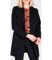 chaquetón ash moufon liso negro - calce regular
