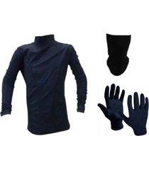 conjunto térmico mezgo camiseta  guantes  cuello