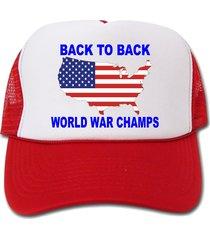 back to back world war champs flag map hat/cap