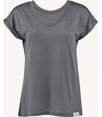 t-shirt z wełny merino szary