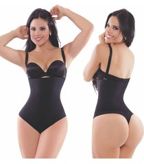 latex thong body shaper w/ removable straps
