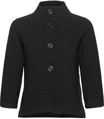 blazer jacket short 3/4 sleeve blazers bouclé blazers svart betty barclay