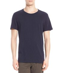 men's vince slub slim fit crewneck t-shirt, size large - blue