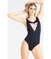 jednoczęściowy kostium kąpielowy z logo