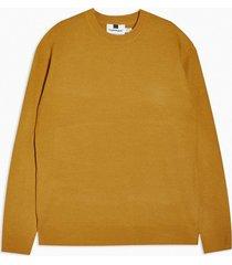 mens yellow ochre loungewear textured sweater