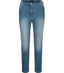 jeans miamoda blauw::wit