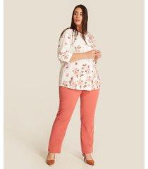 blusa manga 3/4 estampada floral
