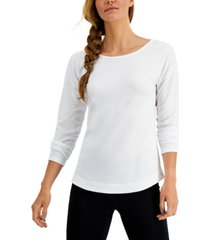 ideology women's long-sleeve drop-shoulder top, created for macy's